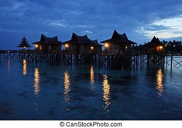 Resort Night Scene