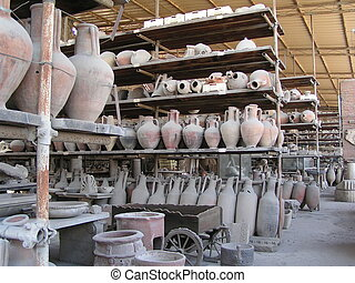 Pompeii Pots - Racks or recovered Pompeii Pots