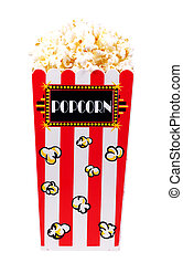 Popcorn - Clipping Path - Isolated Popcorn Bucket - Clipping...