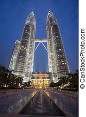 Petronas Twin Towers night scene