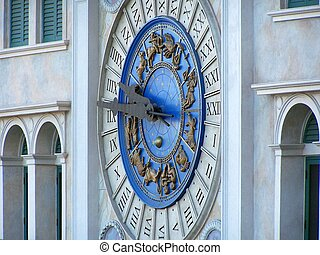 clock at the Venetian hotel in Las Vegas