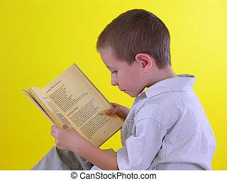 Boy with A Book 2 - Boy reading a book