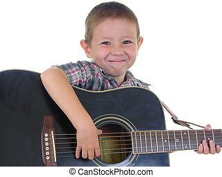 Acoustic Man - Boy playing an acoustic guitar