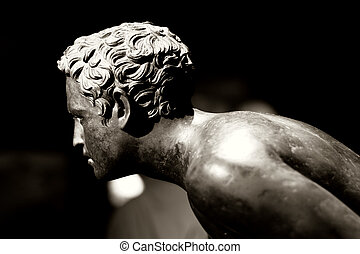 The ethereal boy - A roman bronze statue of a boy The...