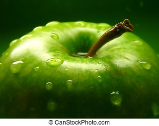 Green apple close-up