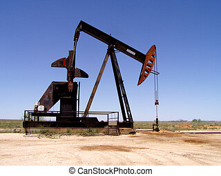 Pumpjack - On the prairie.