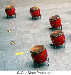 Chinese Drum Set - -- this type is called Tagu in Chinese...