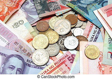 World Currency 2 - Suitable for background depicting world...