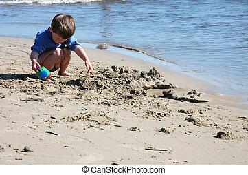 sandstrand, kind