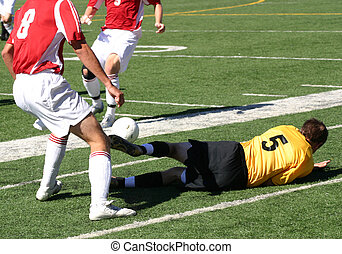 Player Down - Player is downed while fighting for the ball -...