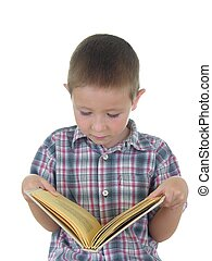 Book Boy - Boy reading a book