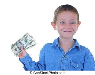 Money Man - Boy holding currency