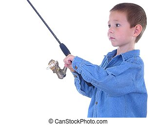 A Little Fishing - Boy with a fishing pole