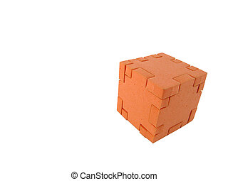 Puzzle cube, completed