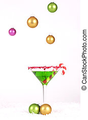 Christmas Cheers - Christmas Drink and hanging coloured...