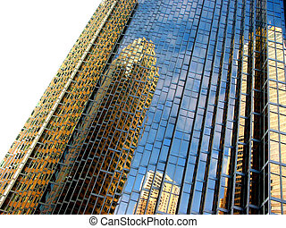 Downtown reflections 10 - Reflections of yellow buildings...