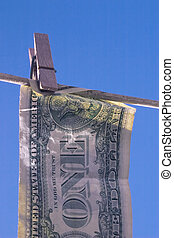 dirty money - money hung out to dry