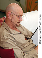 Businessman working at Home. - Businessman doing some...