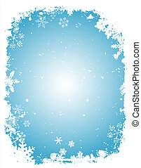 Grunge snowflakes - Grune Christmas background