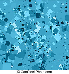 Chaotic squares - Abstract background