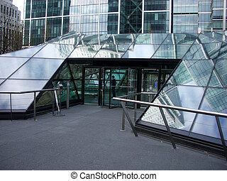 Docklands 122 - This entrance to jubilee place London\'s...