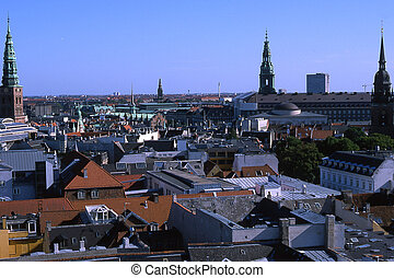 Copenhagen - View over Copenhagen from Round Tower.