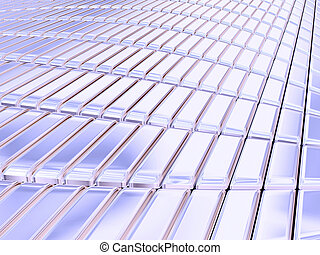 Blue silver bars - Blue silver structural surface.