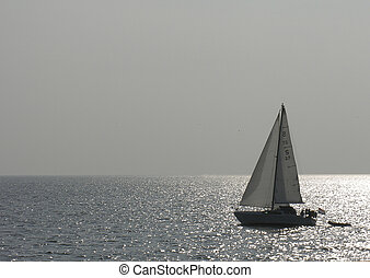 sailboat - alone sailboat