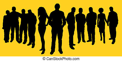 Group of people - People silhouettes
