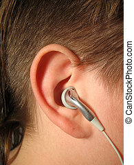 earphones - listening to music with ear buds