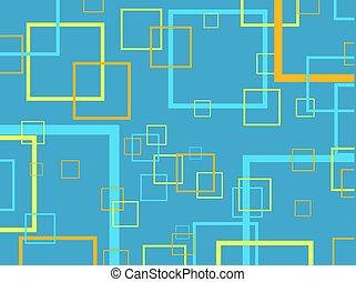 Retro squares - Retro square background