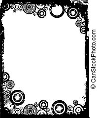 Grunge circles - Grunge circle background