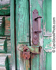 Door Lock - An old house door lock