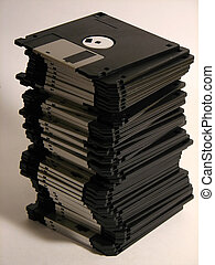 floppy3 - un-even stack of floppys