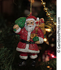 Old Santa Ornament - An old Santa claus Christmas ornament...