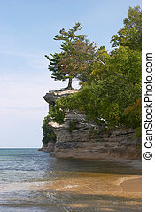 Lake Superior - Chapel Rock on Lake Superior in Michigan\'s...
