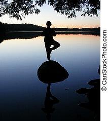yoga - lake