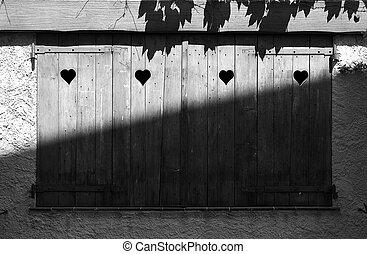Shutters - Heart