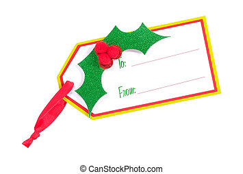 Gift Tag - Clipping Path - Isolated Gift Tag - Clipping Path
