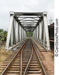 Railway bridge - The railway bridge at Bentota, Sri Lanka