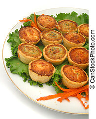 quiches - mini quiches on a plate