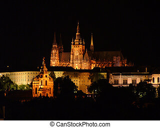 Prague Castle - Night shoot of Prague Castle, Czech Republic