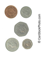 5 English Coins - Photo of five English Coins