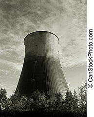 Hyperbolic Cooling Tower 3 - Photo of a hyperbolic cooling...