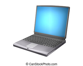 Laptop - This was drawn in flash and rendered little in...