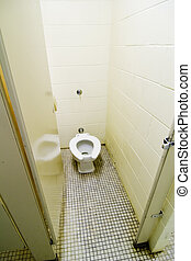Public Toilet - Toilet in a public washroom.
