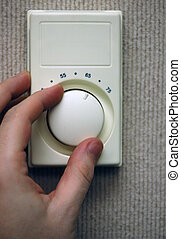 Thermostat - Typical household thermostat.