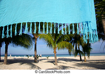 Tropical Hideaway - Tropical beach viewed from behind...
