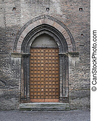 Church Door - Church door in Bologna, Italy