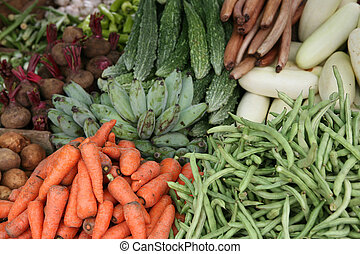 Sri Lankan vegetable stall - A vegetable stall in Sri Lanka...